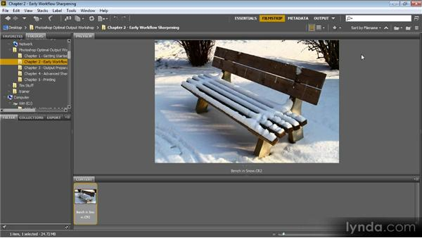 In-camera sharpening: Optimal Output with Photoshop CS6