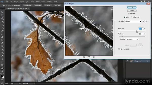 Sharpening with Smart Sharpen: Optimal Output with Photoshop CS6