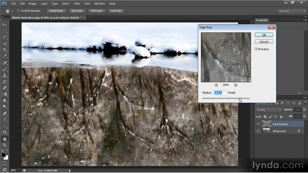 Local contrast enhancement: Optimal Output with Photoshop CS6