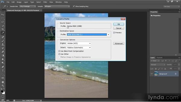 Saving the image for digital sharing: Optimal Output with Photoshop CS6
