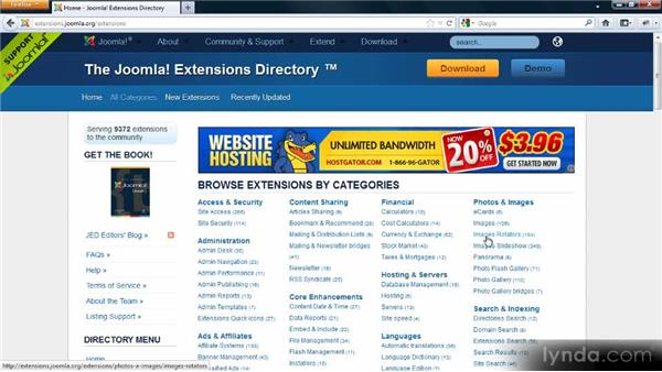 Using extensions for your Joomla! site: Adding Dynamic Functionality to Your Joomla! Site