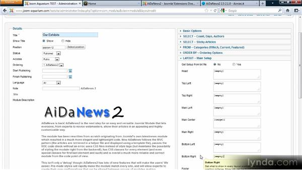 Working with AiDaNews: Adding Dynamic Functionality to Your Joomla! Site