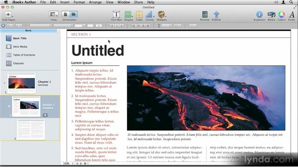 Introduction and workflow overview: Up and Running with iBooks Author