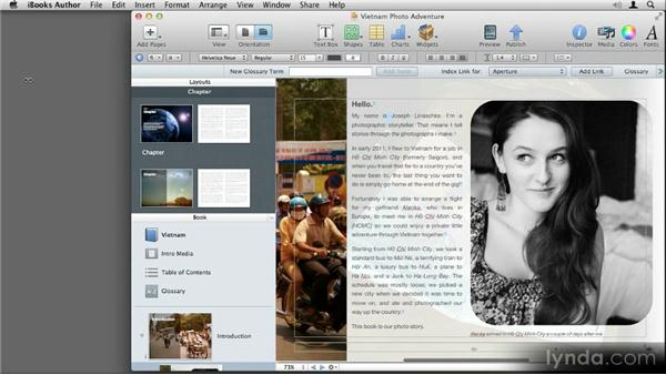 Interface tour: Up and Running with iBooks Author