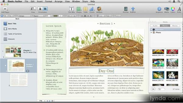 Creating your first ebook in just four minutes: Up and Running with iBooks Author