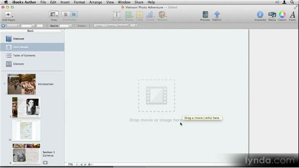 Adding an introductory image or video: Up and Running with iBooks Author
