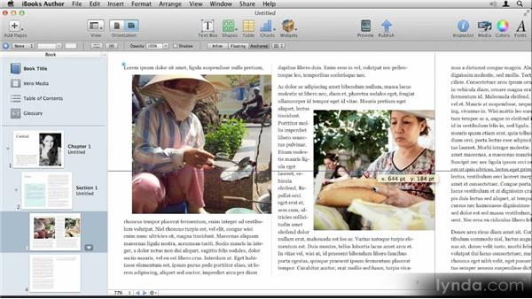 Adding images: Up and Running with iBooks Author