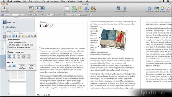 Making image adjustments and scaling and rotating: Up and Running with iBooks Author