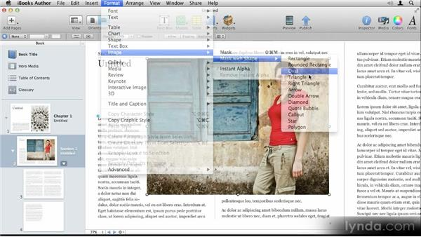Using image masks: Up and Running with iBooks Author