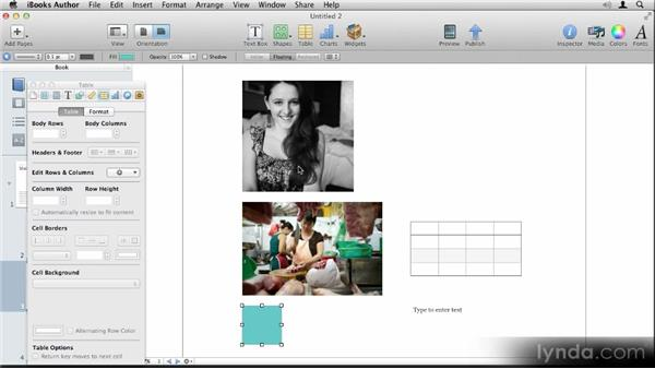 Aligning objects: Up and Running with iBooks Author