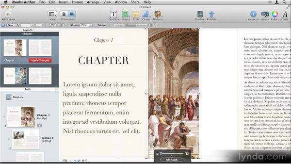 Creating custom layouts: Up and Running with iBooks Author