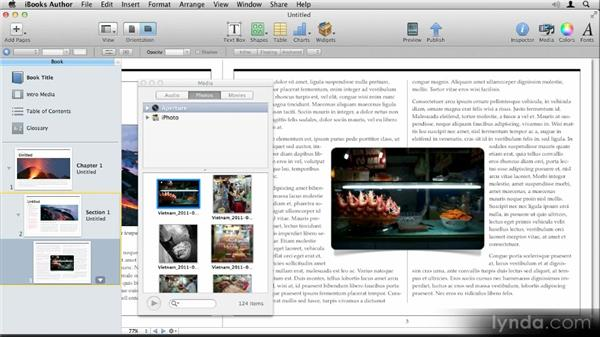 Working with master objects: Up and Running with iBooks Author