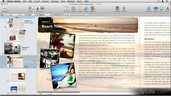 Understanding orientation: Up and Running with iBooks Author