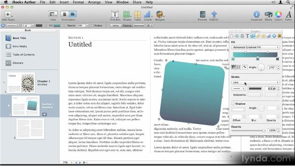 Working with shapes: Up and Running with iBooks Author