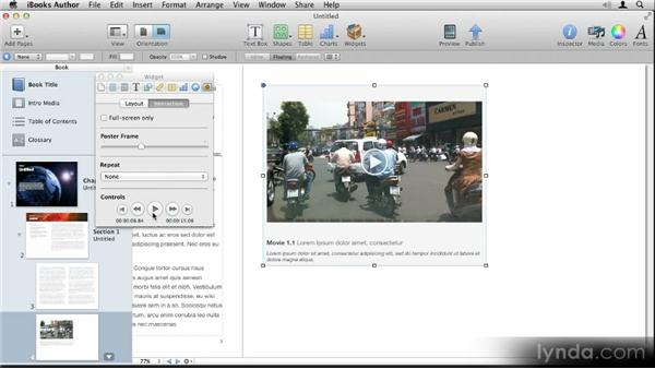 Adding video and audio: Up and Running with iBooks Author