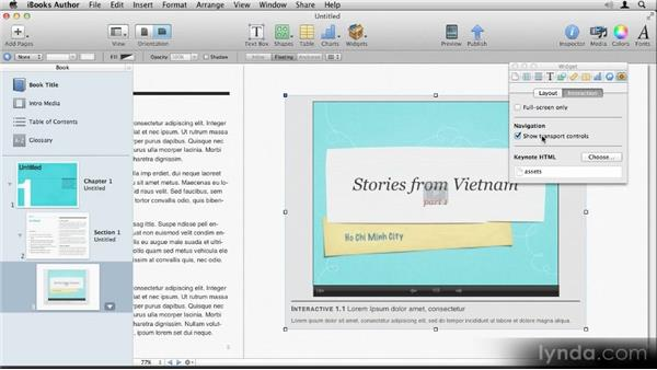 Inserting a Keynote presentation: Up and Running with iBooks Author