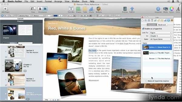 Adding links: Up and Running with iBooks Author