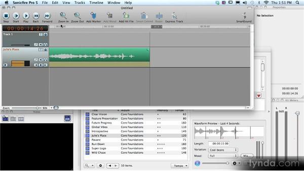 Creating custom-length tracks: SmartSound Sonicfire Pro 5 Workshop