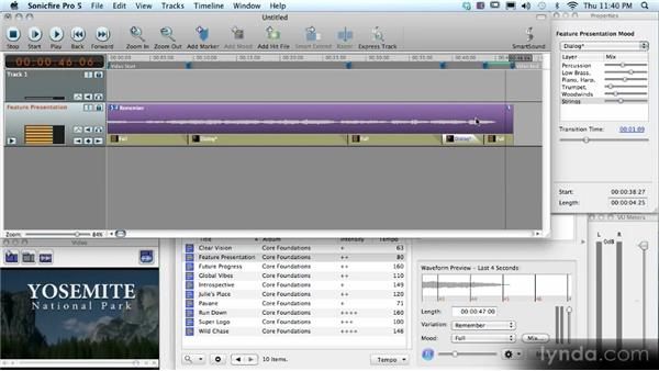 Adding a track to a video: SmartSound Sonicfire Pro 5 Workshop