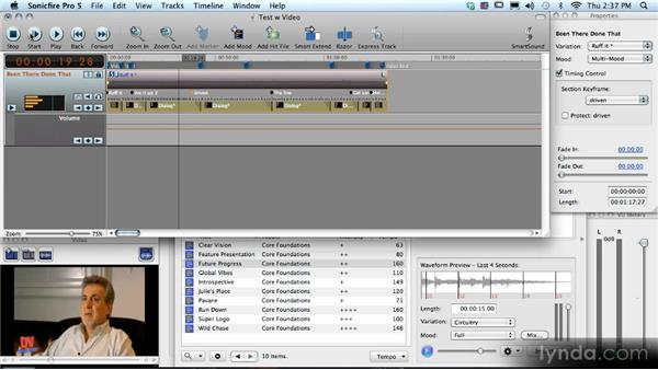 Project example: Mood mapping and the Timing Control feature: SmartSound Sonicfire Pro 5 Workshop