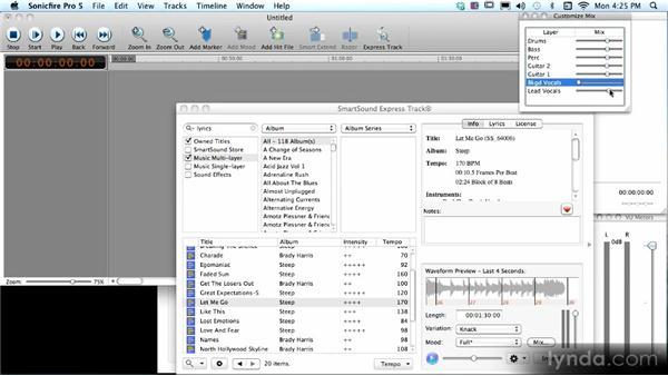Using SmartSound tracks with vocals: SmartSound Sonicfire Pro 5 Workshop