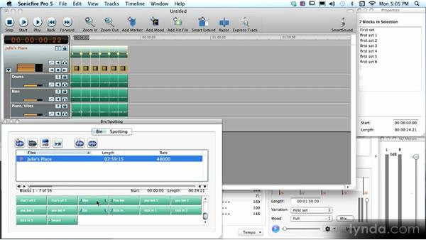 Building songs and soundtracks with blocks from the bin: SmartSound Sonicfire Pro 5 Workshop