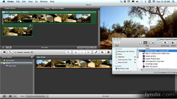 iMovie HD round-trip workflow: SmartSound Sonicfire Pro 5 Workshop