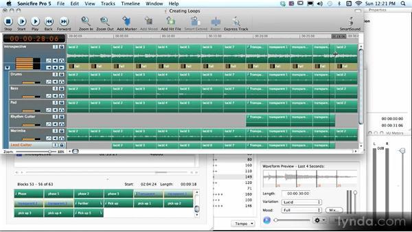 Creating loopable music tracks: SmartSound Sonicfire Pro 5 Workshop