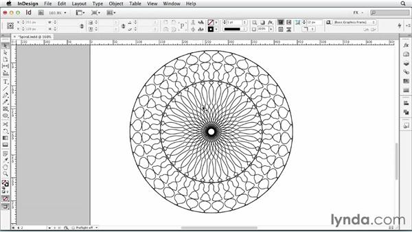 088 Creating spiral patters from random lines: InDesign FX