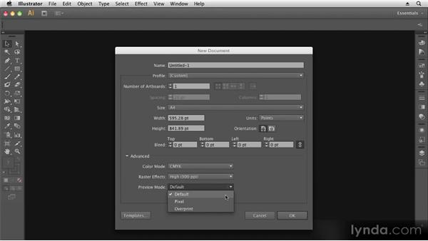 Setting up a new document: Up and Running with Illustrator CS6