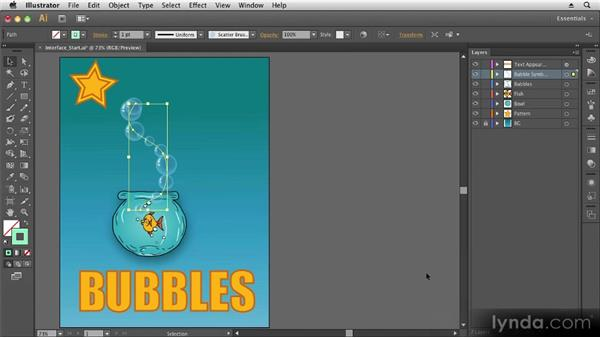 User interface tour: Up and Running with Illustrator CS6