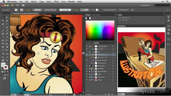 Navigating within the workspace: Up and Running with Illustrator CS6