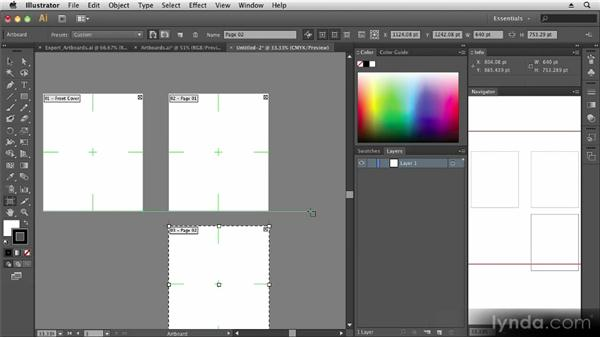 Working with artboards: Up and Running with Illustrator CS6