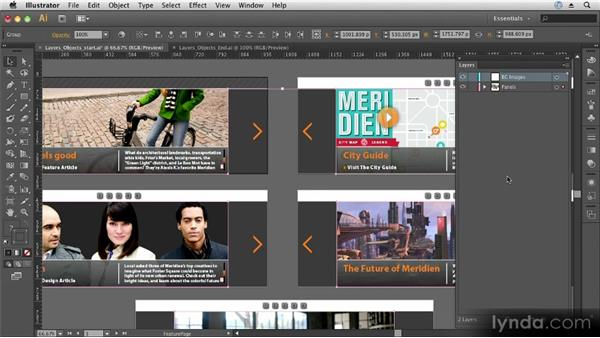 Understanding layers and objects: Up and Running with Illustrator CS6
