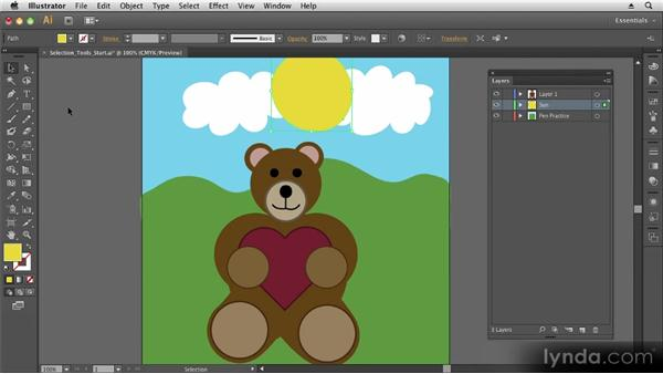 Making and moving selections: Up and Running with Illustrator CS6