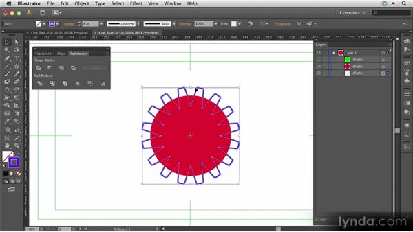 Combining shapes with the Pathfinder: Up and Running with Illustrator CS6