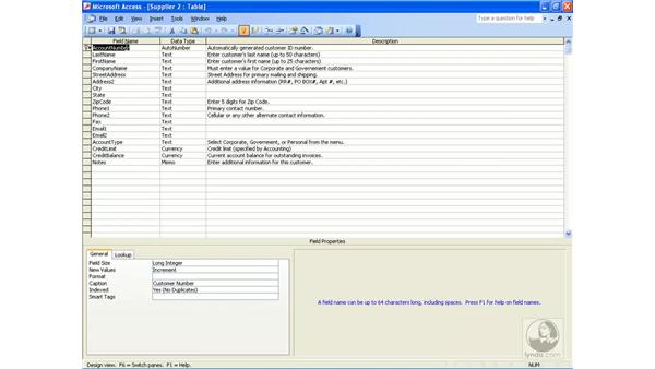 copying tables: Access 2003 Essential Training