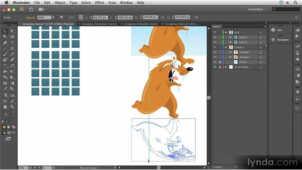 Grouping objects: Up and Running with Illustrator CS6