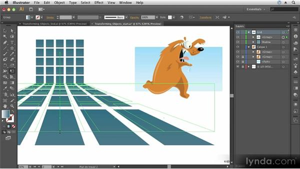 Transforming objects: Up and Running with Illustrator CS6