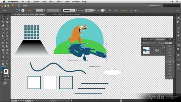 Fills and strokes: Up and Running with Illustrator CS6