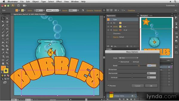 Using the Appearance panel: Up and Running with Illustrator CS6