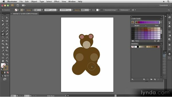 Creating shapes with the Blob Brush and Eraser tools: Up and Running with Illustrator CS6