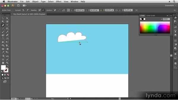 Working with the Pen and Pencil tools: Up and Running with Illustrator CS6