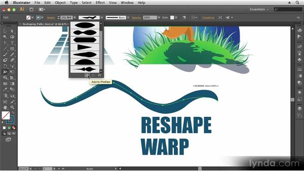 Reshaping paths: Up and Running with Illustrator CS6