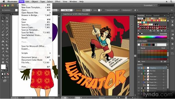Saving and exporting artwork: Up and Running with Illustrator CS6