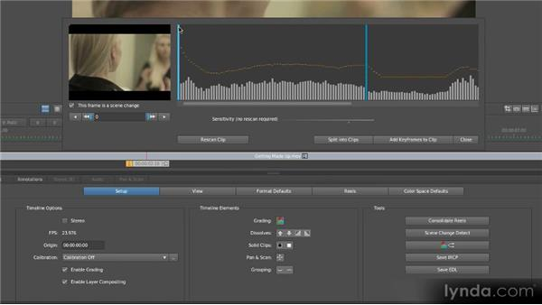 Automatically detecting scenes: Getting Started with SpeedGrade CS6