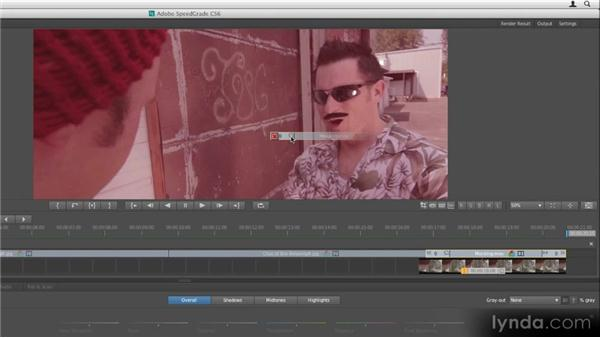 Applying grades to multiple clips: Getting Started with SpeedGrade CS6
