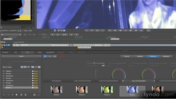 Applying presets: Getting Started with SpeedGrade CS6