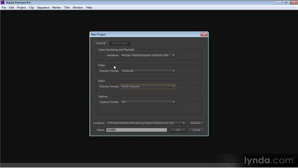 Creating a new project: Premiere Pro CS6 for Avid and Final Cut Pro Editors