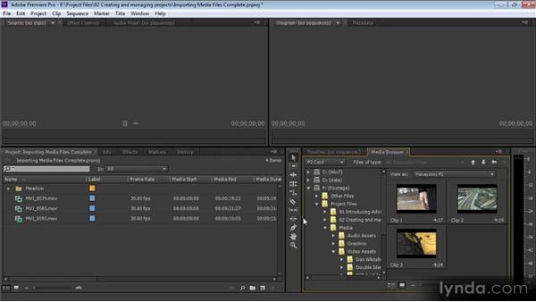 Importing media files: Premiere Pro CS6 for Avid and Final Cut Pro Editors